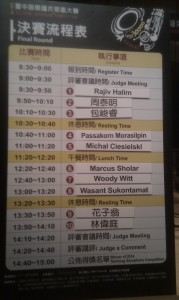 Finalists Taichung Saxophone Competition 2014